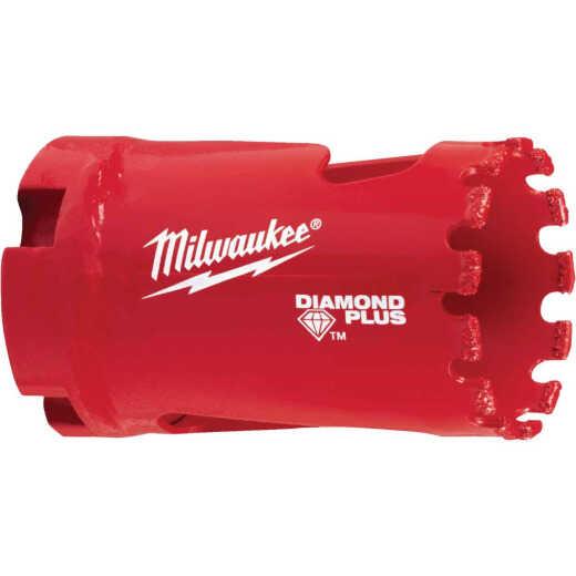 Milwaukee Diamond Plus 1-1/4 In. Diamond Grit Hole Saw