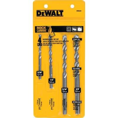 DeWalt Masonry Drill Bit Set (4-Pieces)
