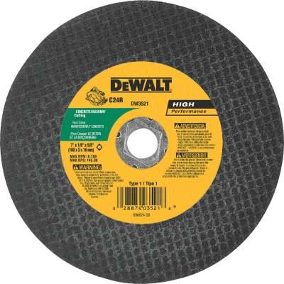 DeWalt HP Type 1 7 In. x 1/8 In. x 5/8 In. Masonry Cut-Off Wheel