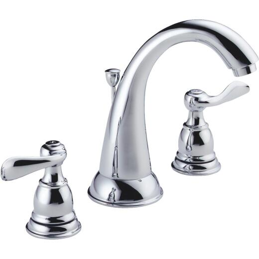 Delta Windmere Chrome 2-Handle Lever 6 In. to 16 In. Widespread Bathroom Faucet with Pop-Up