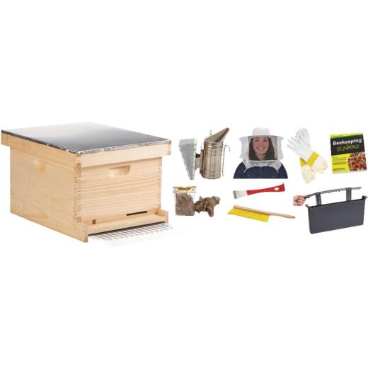 Little Giant 9.125 In. L. x 9.5 In. D. Assembled Medium Beehive, 10 Frames